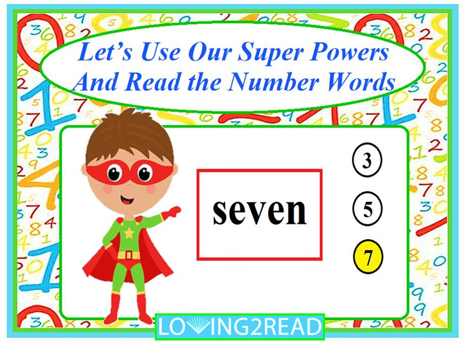 Let's Use Our Super Powers and Read the Number Words