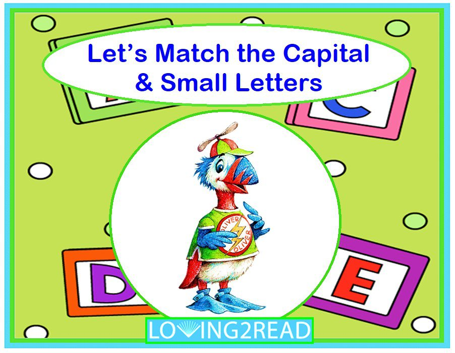 Let's Match the Capital & Small Letters