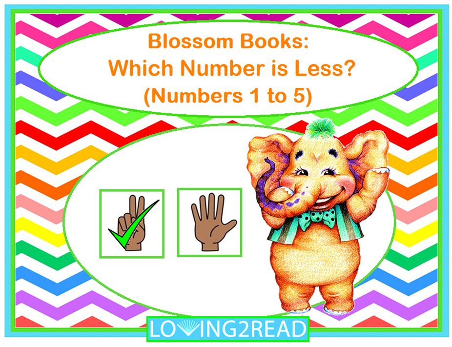 Blossom Books: Which Number is Less? (Numbers 1 to 5)
