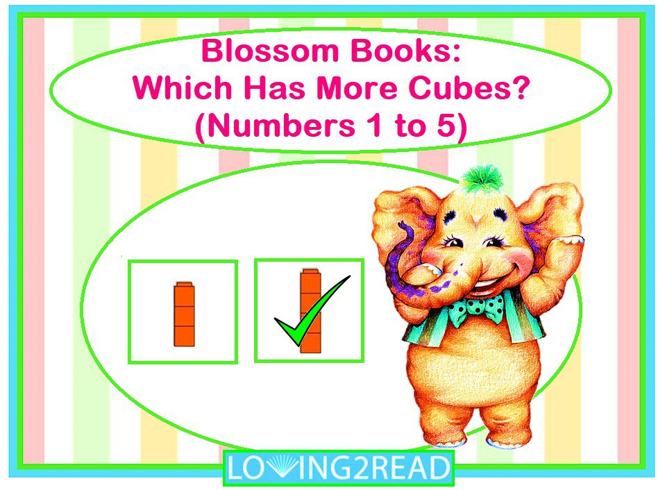 Blossom Books: Which Number Cube is More? (Numbers 1 to 5)