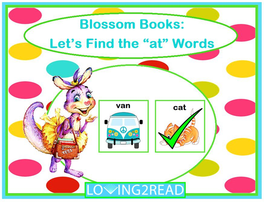 "Blossom Books: Let's Find the ""at"" Words"