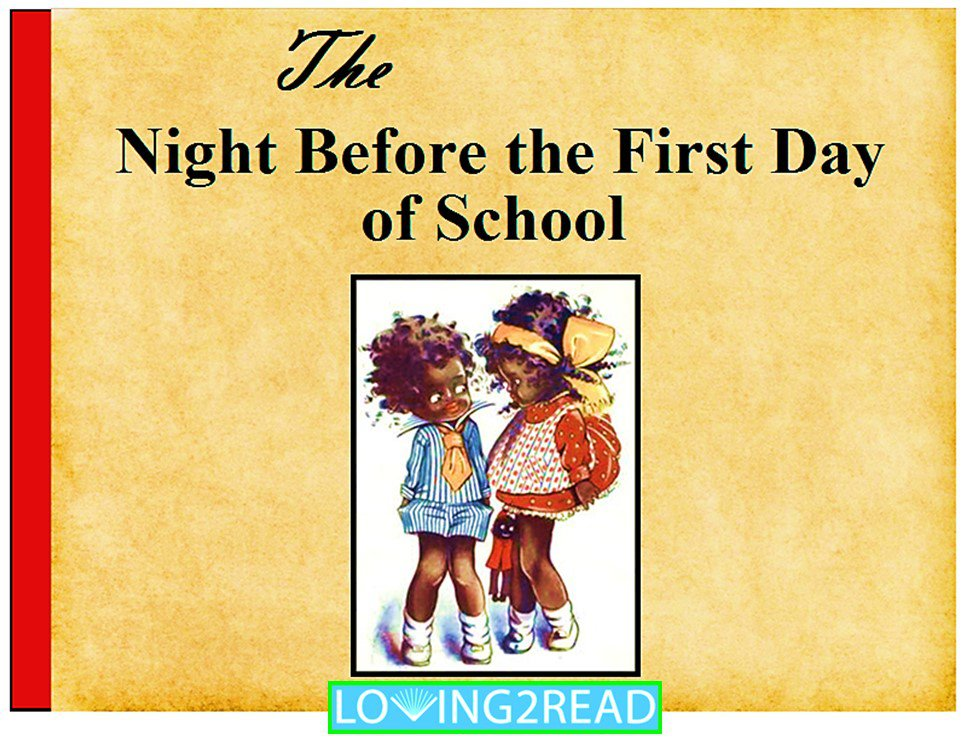 The Night Before the First Day of School
