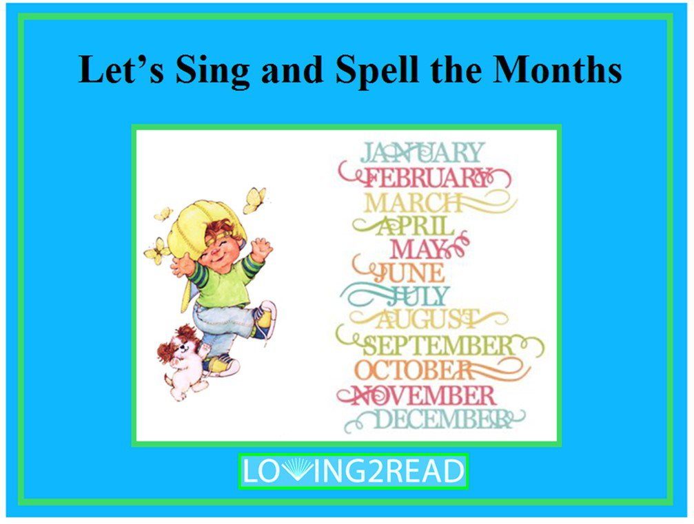 Let's Sing and Spell the Months