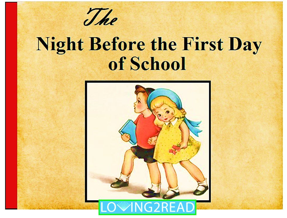 The Night Before the First Day of School - Back to School Book
