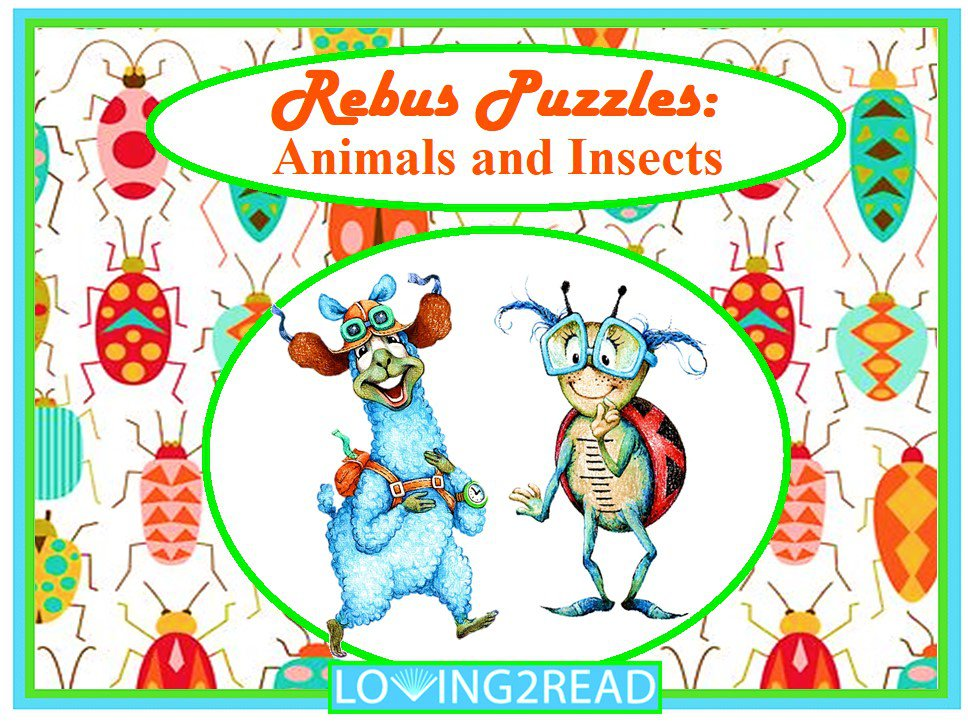 Rebus Puzzles: Animals and Insects