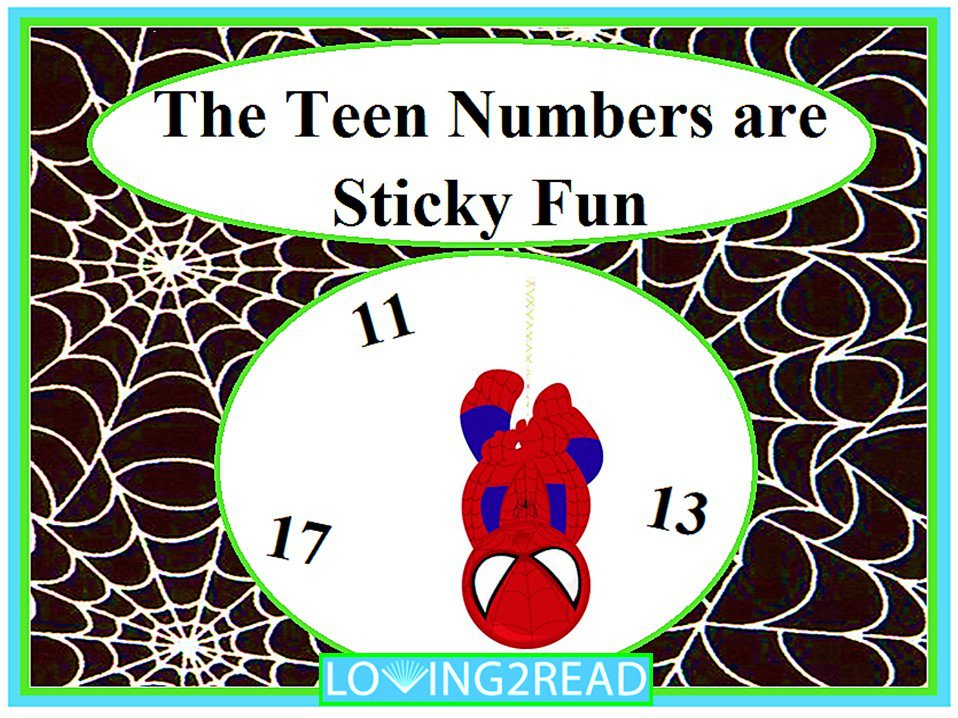 The Teen Numbers are Sticky Fun