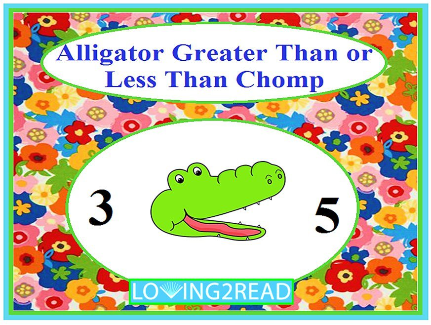 Alligator Greater Than or Less Than Chomp