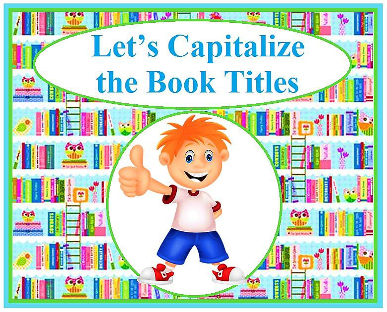Let's Capitalize the Book Titles