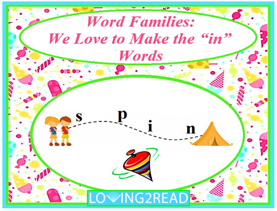 "Word Families: We Love to Make the ""in"" Words"