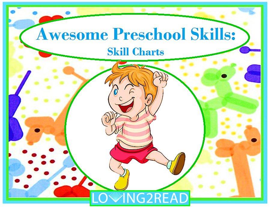 Awesome Preschool Skills: Skill Charts