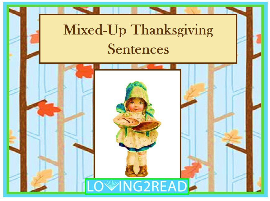 Mixed-Up Thanksgiving Sentences