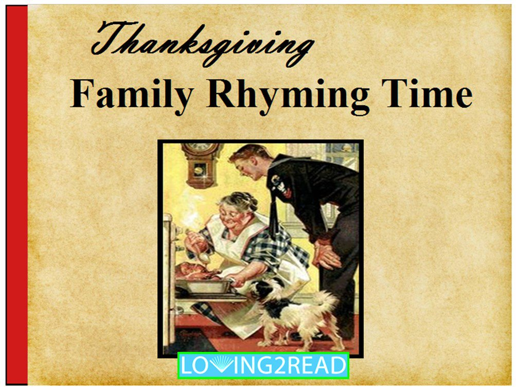 Thanksgiving Family Rhyming Time