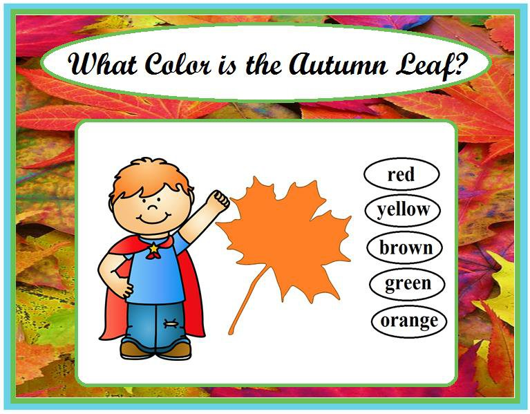 What Color is the Autumn Leaf?