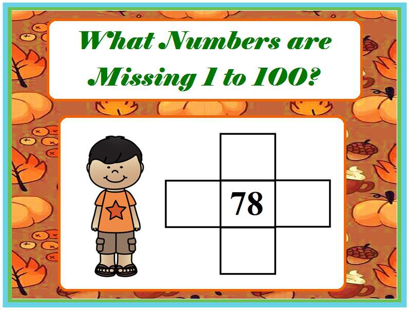 What Numbers are missing 1 to 100?