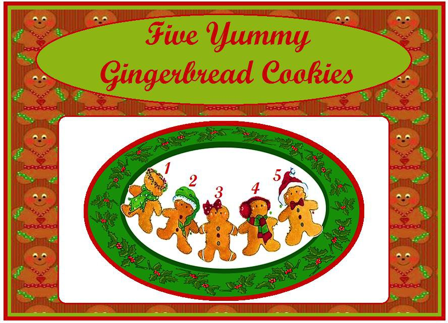 Five Yummy Gingerbread Cookies