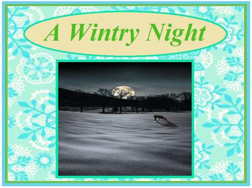 A Wintry Night
