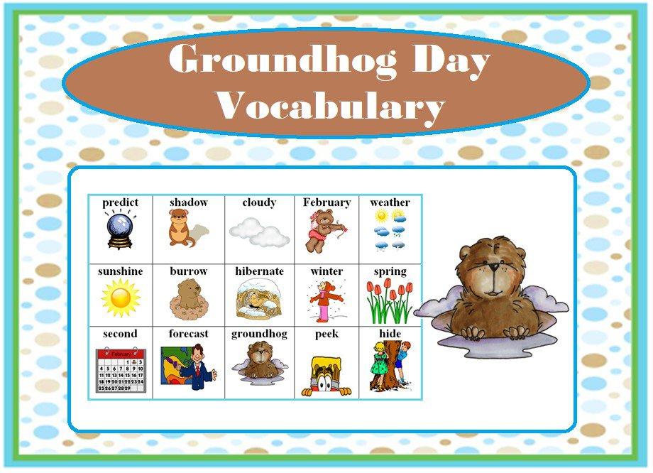 Groundhog Day Vocabulary